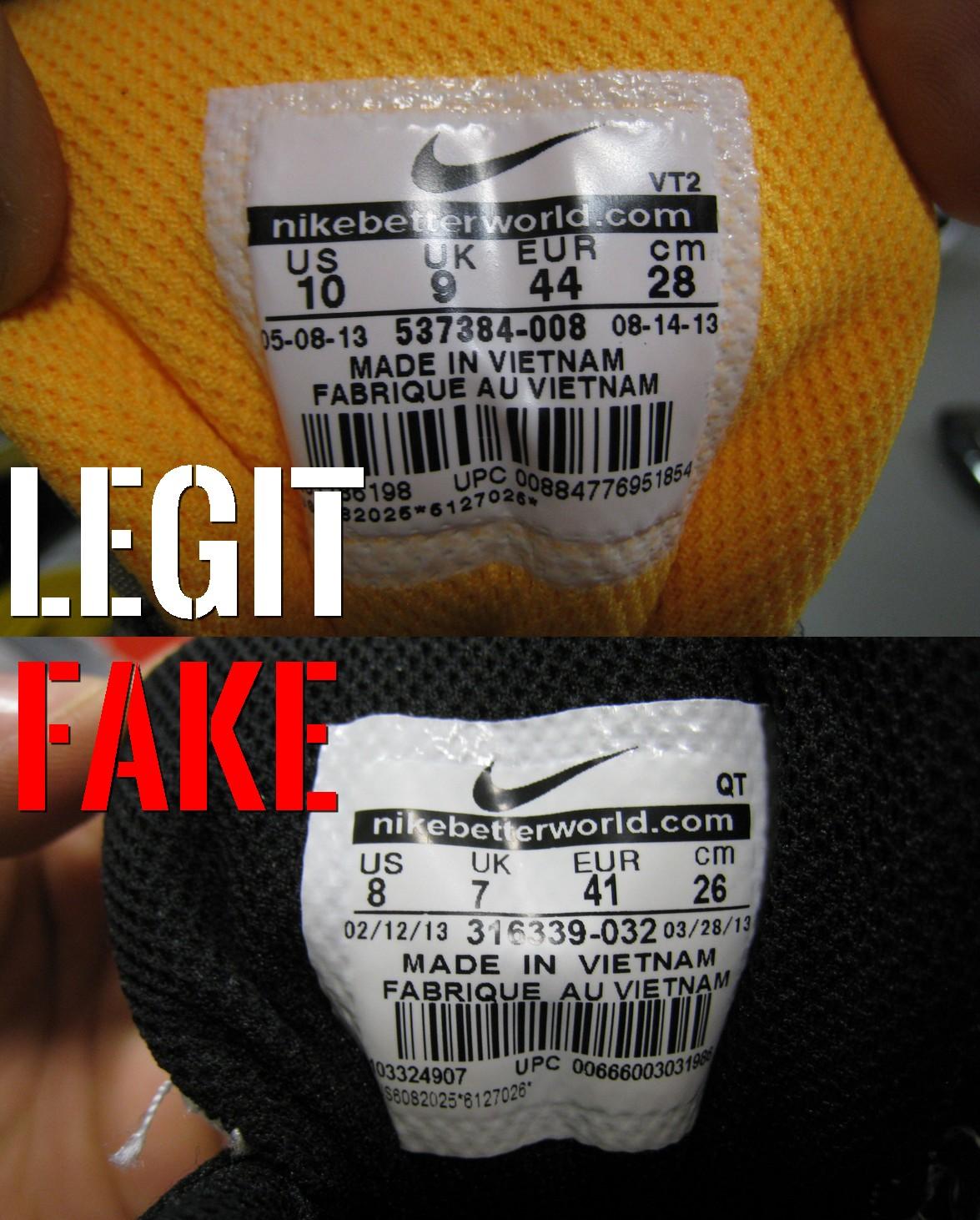 podróbka Nike Air Max 90 metka na języku
