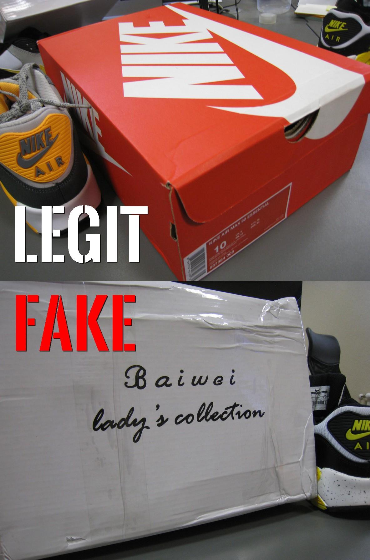podróbka Nike Air Max 90 pudełko