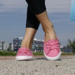 różowe tenisówki-baleriny damskie lacoste ziane chunky 1