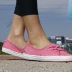 różowe tenisówki-baleriny damskie lacoste ziane chunky 3