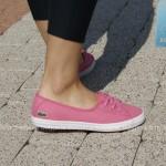 różowe tenisówki-baleriny damskie lacoste ziane chunky 4