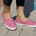 różowe tenisówki-baleriny damskie lacoste ziane chunky 5