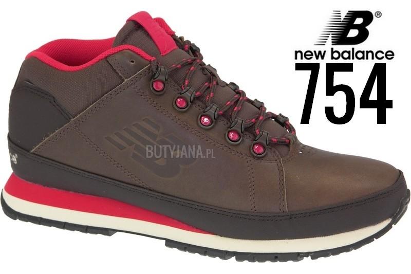 new balance 754 brązowo czerwone