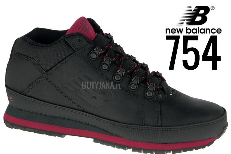 new balance 754 czarne ze skóy licowej