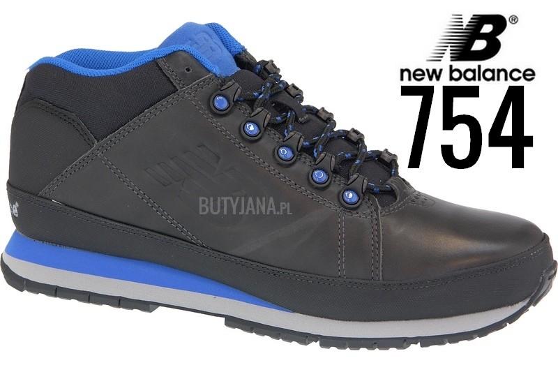 new balance 754 czarno niebieskie