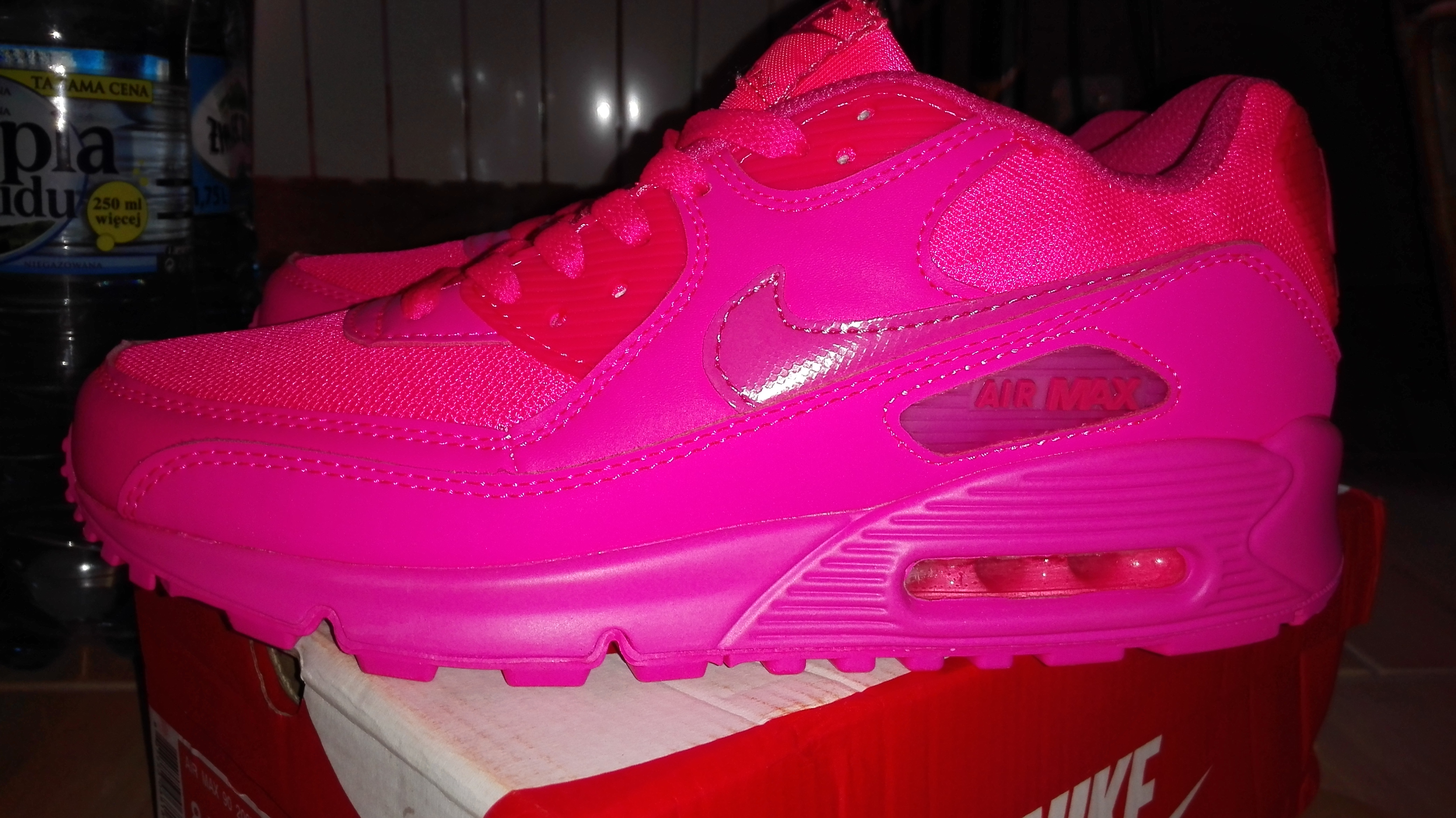 "Nike Air Max 90 2007 GS 345017-601""Hyper Pink"" buty"