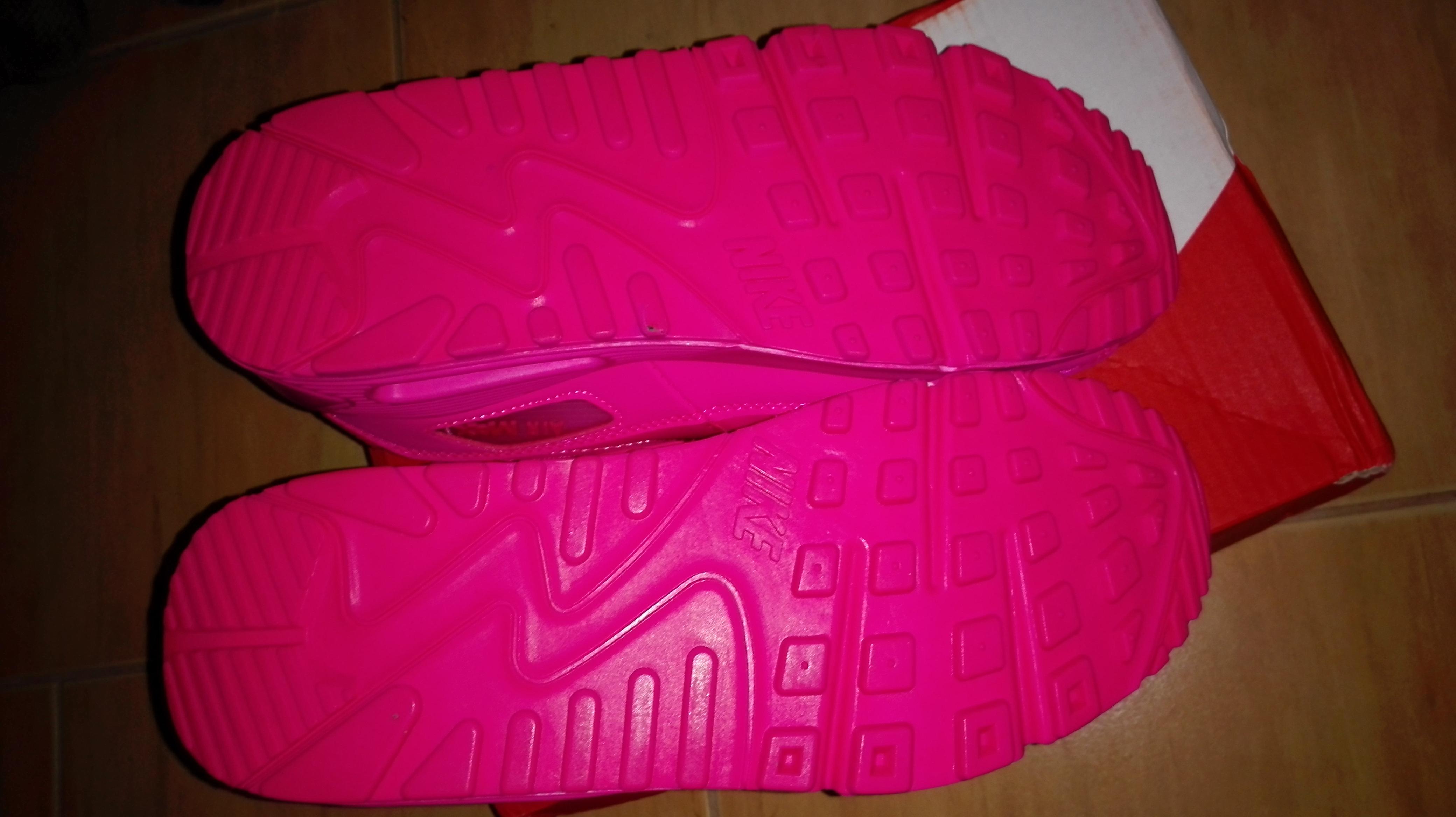 "Nike Air Max 90 2007 GS 345017-601""Hyper Pink"" różowa podeszwa"