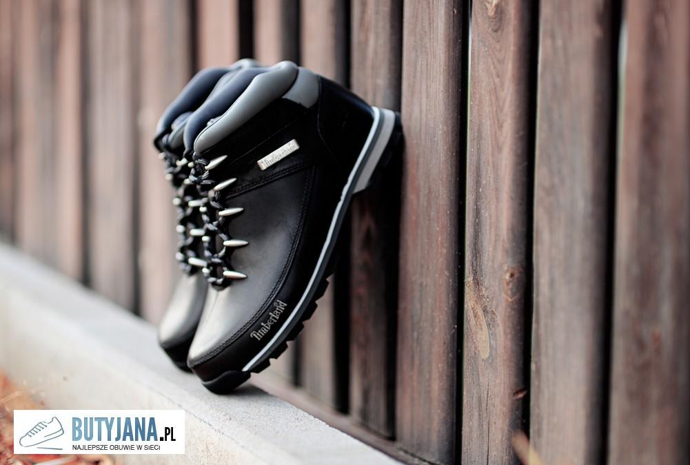 Buty Timberland czarne skórzane