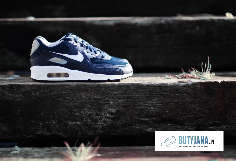 Nike Air Max 90 Gs 307793-417 Obsidian White - Wolf Grey - buty juniorskie