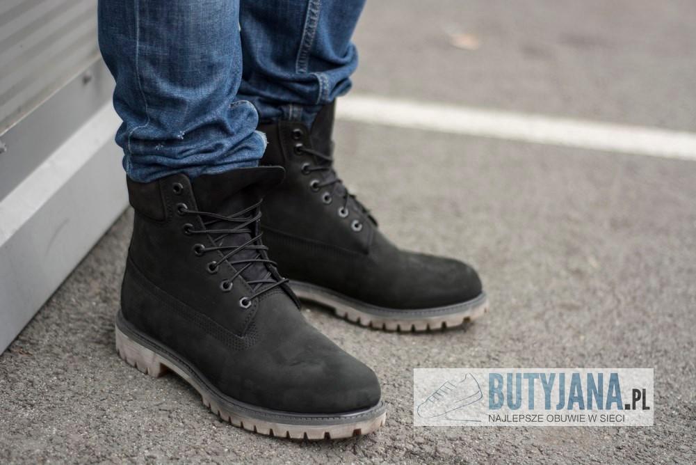 Czarne buty męskie 6 Inch