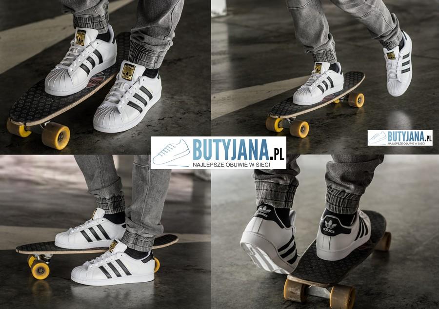 Adidas Originals Superstar C77124 buty męskie białe na nodze