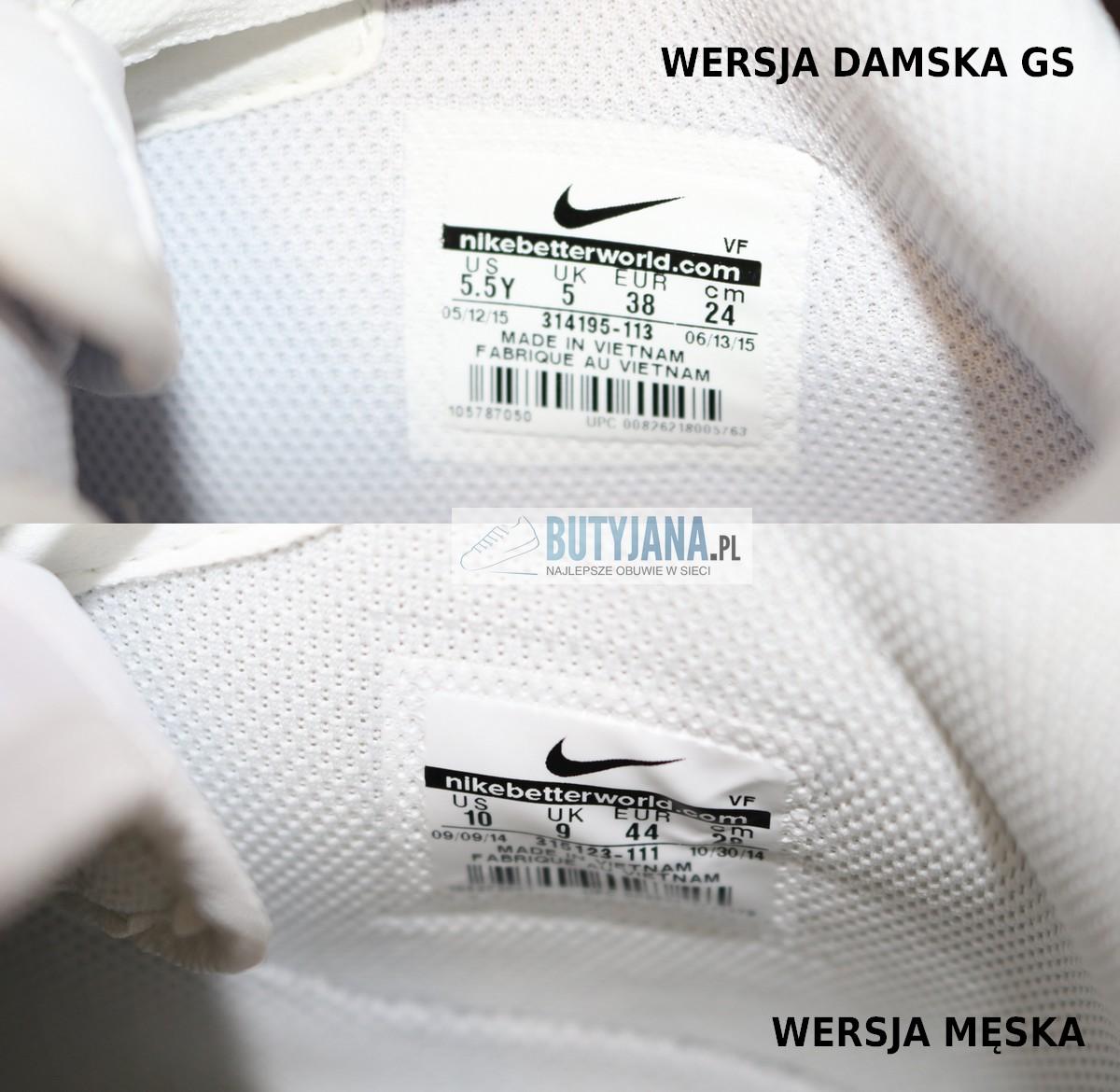 Oryginalna metka Nike Air Force White męskie i damskie