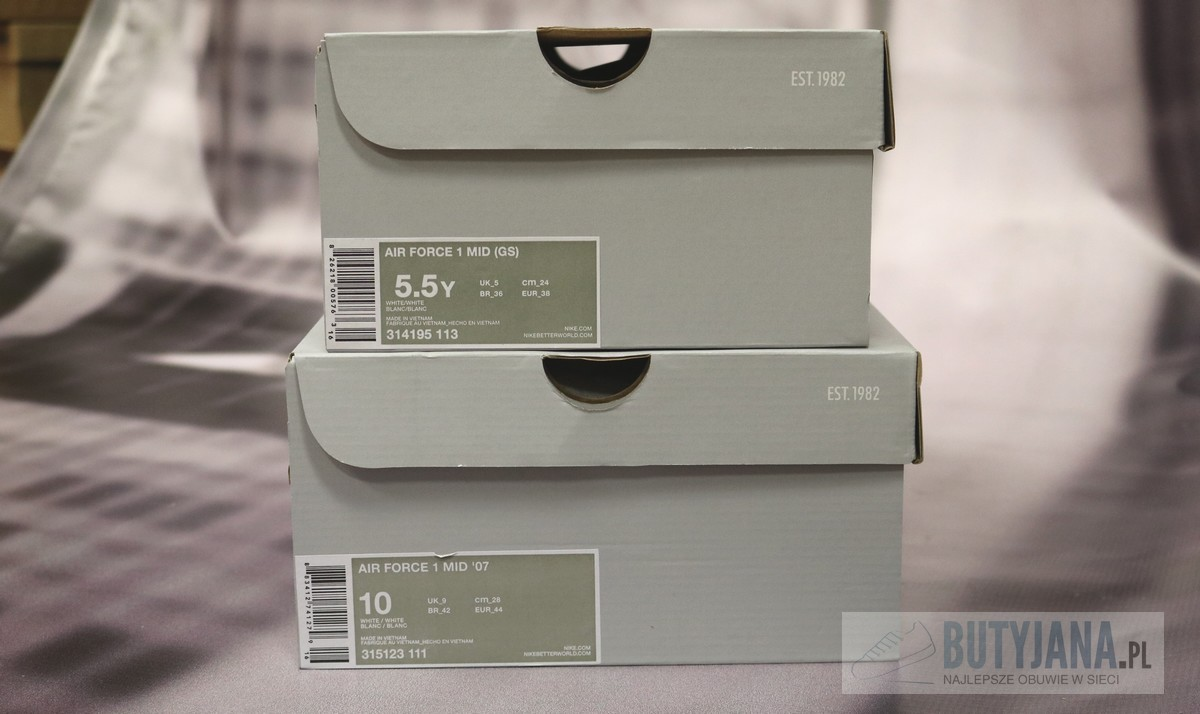pudełko Nike Air Force 1 damskie i męskie  zetykietą