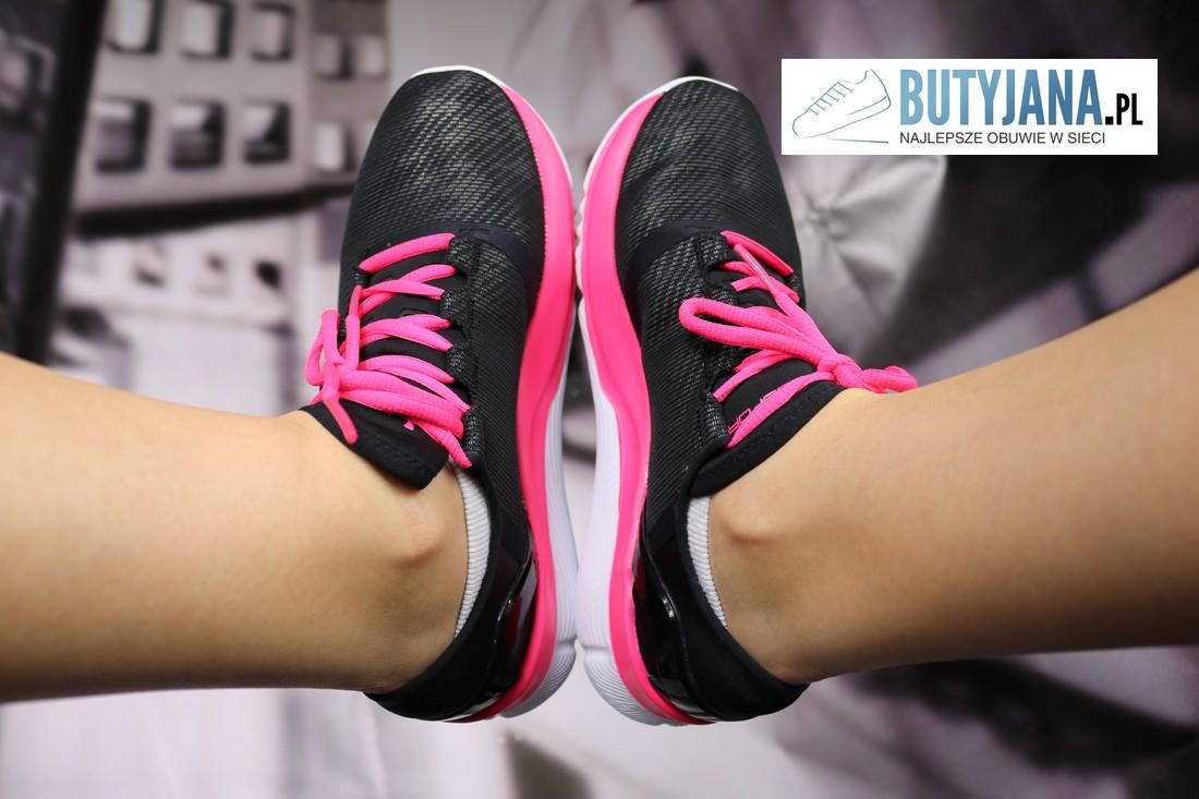 under armour damskie buty czarno różowe