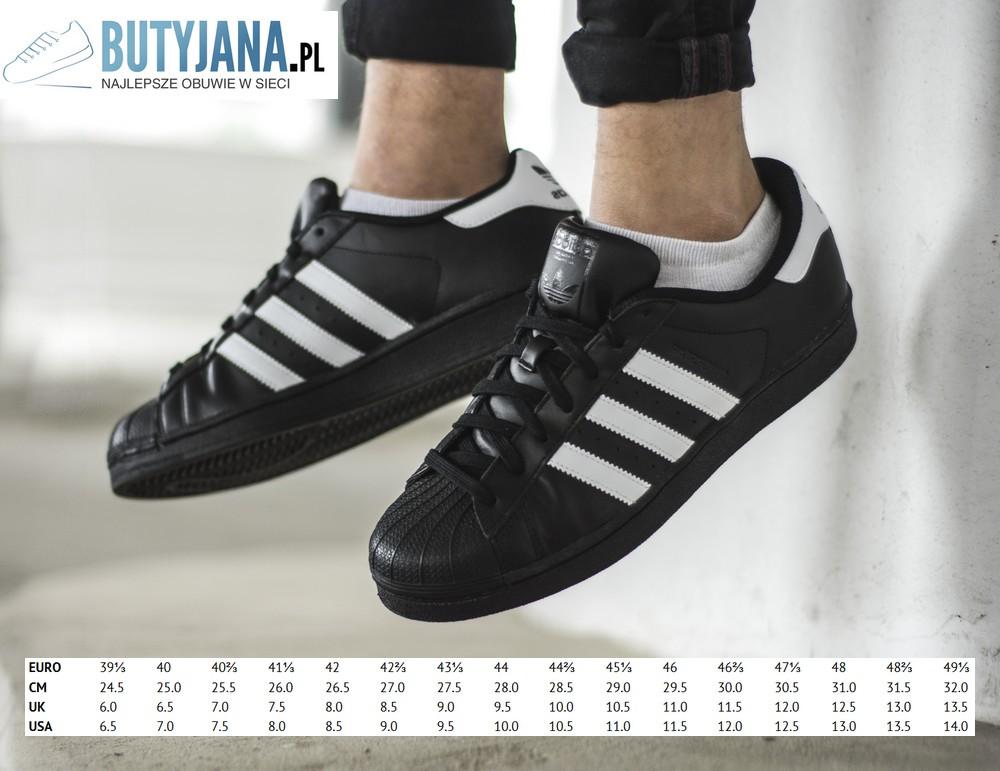 Adidas Superstar jak dobrać rozmiar