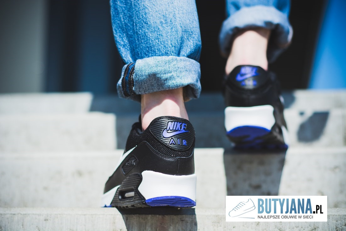 Nike Air Max 90 Essential 537384-052 Black Purple snekaers męskie