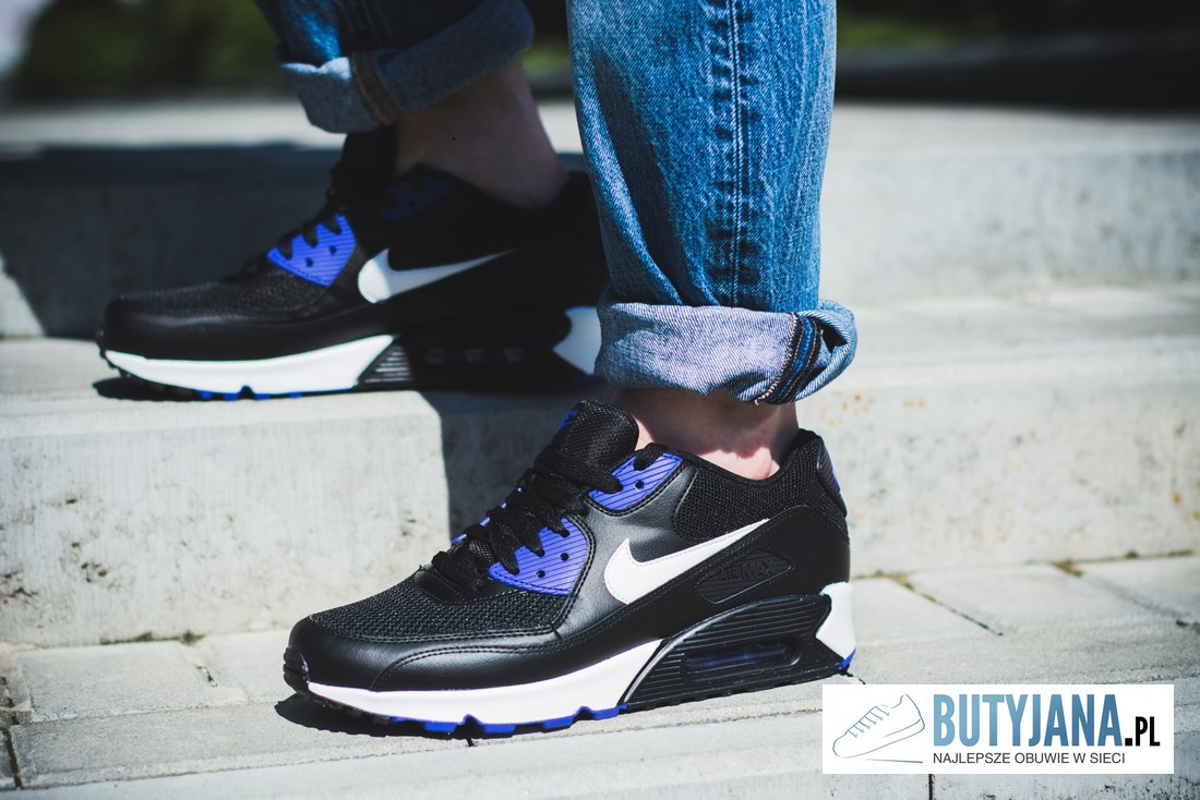 Nike Air Max 90 Essential 537384-052 Black  Purple