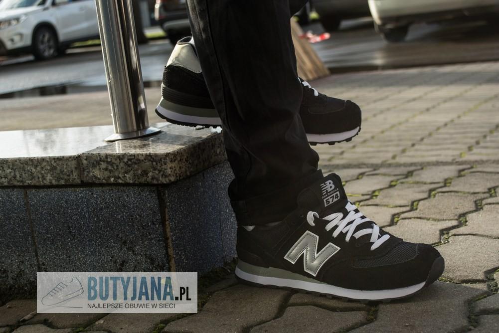 męskie czarne new balance 574
