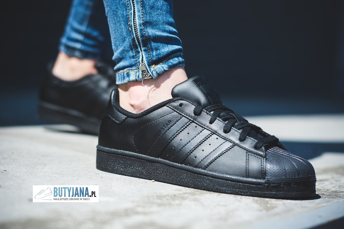 adidas superstar czarne damskie - junior
