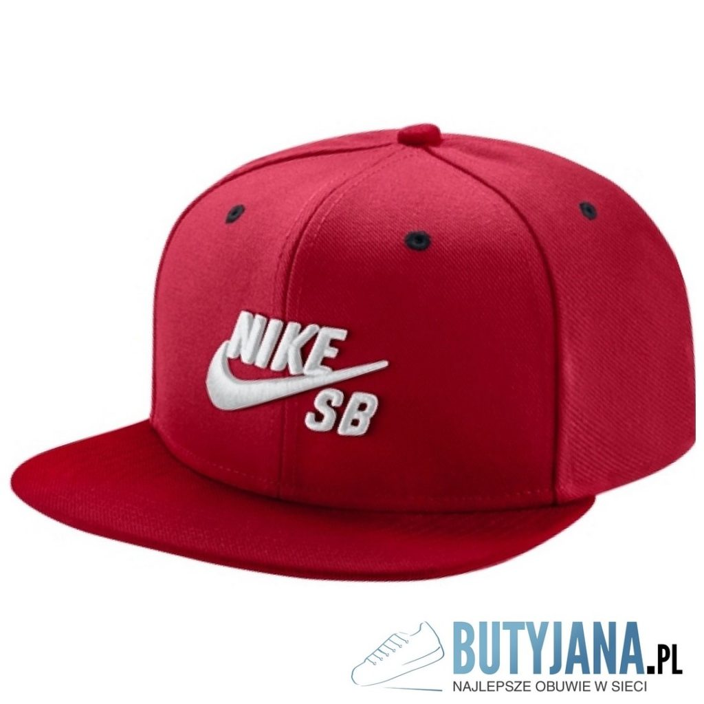 czerwona czapeczka z daszkiem nike