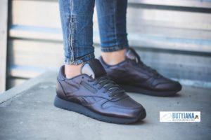 reebok classic leather wyprzedaż czarne damskie
