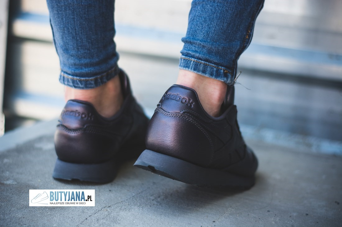 reebok classic leather wyprzedaż czarne