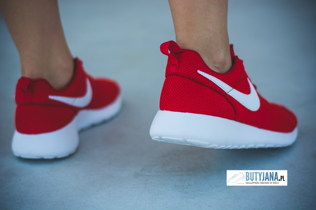 Nike Roshe One Gs 599728-605 University Red - White damskie sneakers