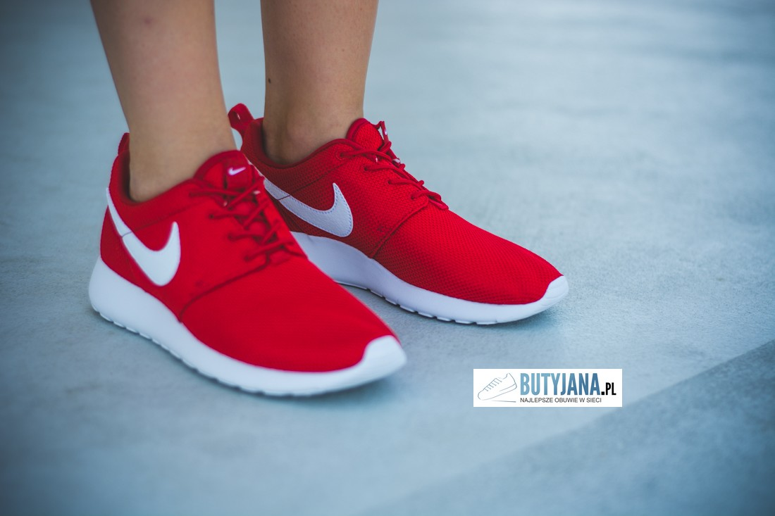 Nike Roshe One Gs 599728-605 University Red - White damskie